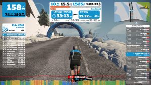Zwift in-game screen